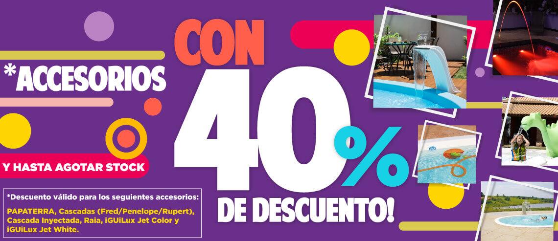 Promocion de accesorios con 40% de descuentoen Argentina