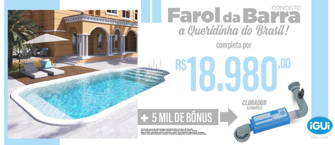 Promoção Farol da Barra com filtro G5 Conceito + Clorador - BONUS de 5 mil- Aproveite é por tempo limitado!