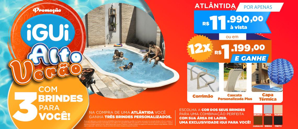 Promoção Atlântida com Eco System + Cascata + Capa térmica + Corrimão