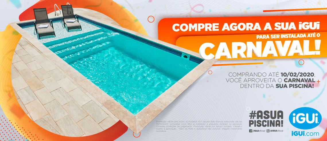 Compre agora sua iGUi para ser instalada até o Carnaval e aproveita a folia na sua piscina!