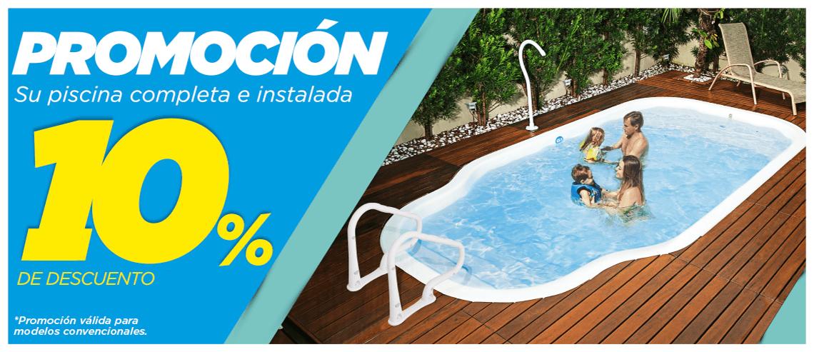 Promocion 10% de descuento en todas las piscinas