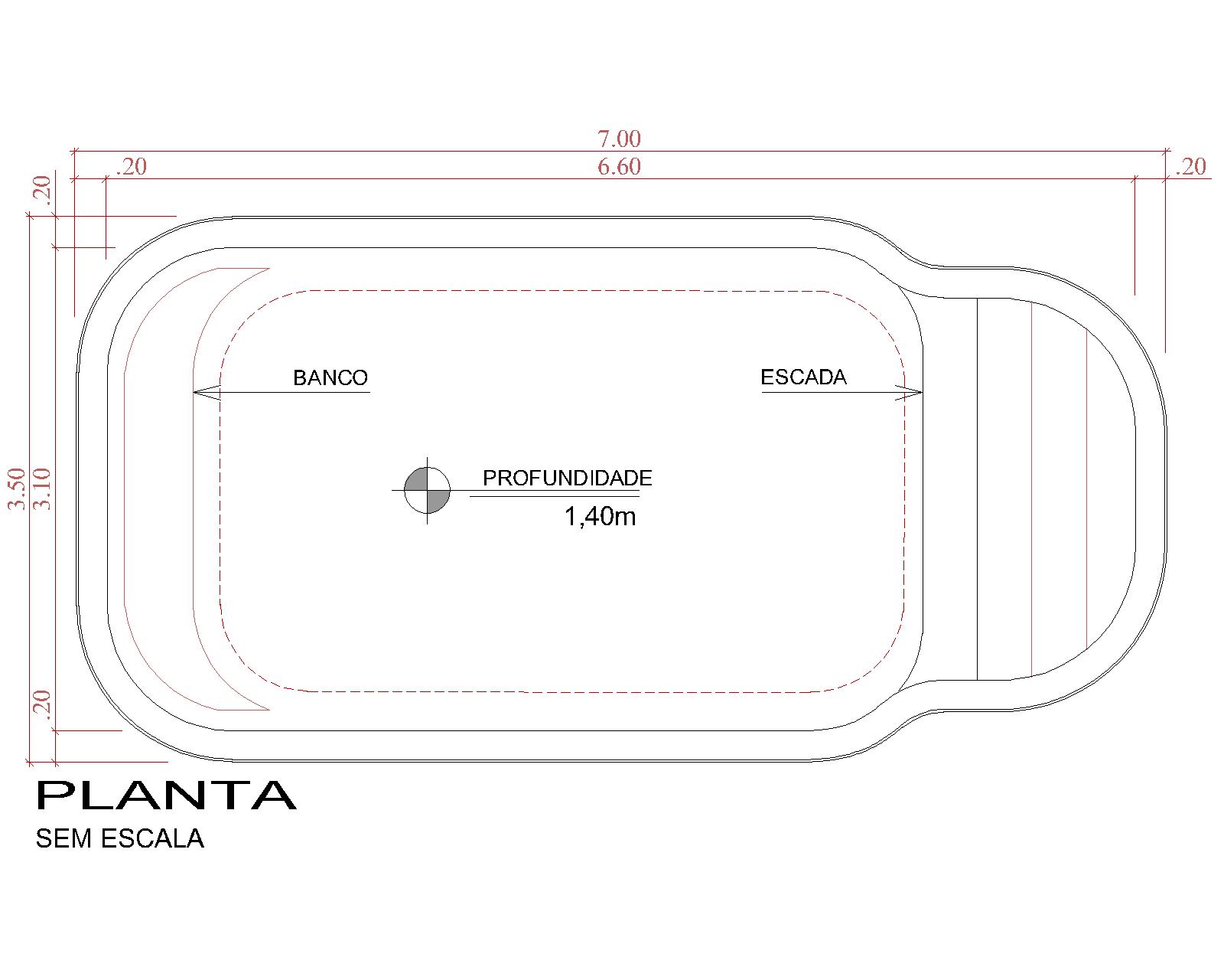 Desenho técnico Amaralina (sem escala)