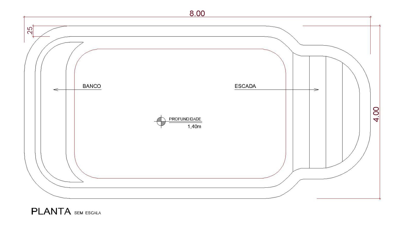 Desenho técnico Armação (sem escala)