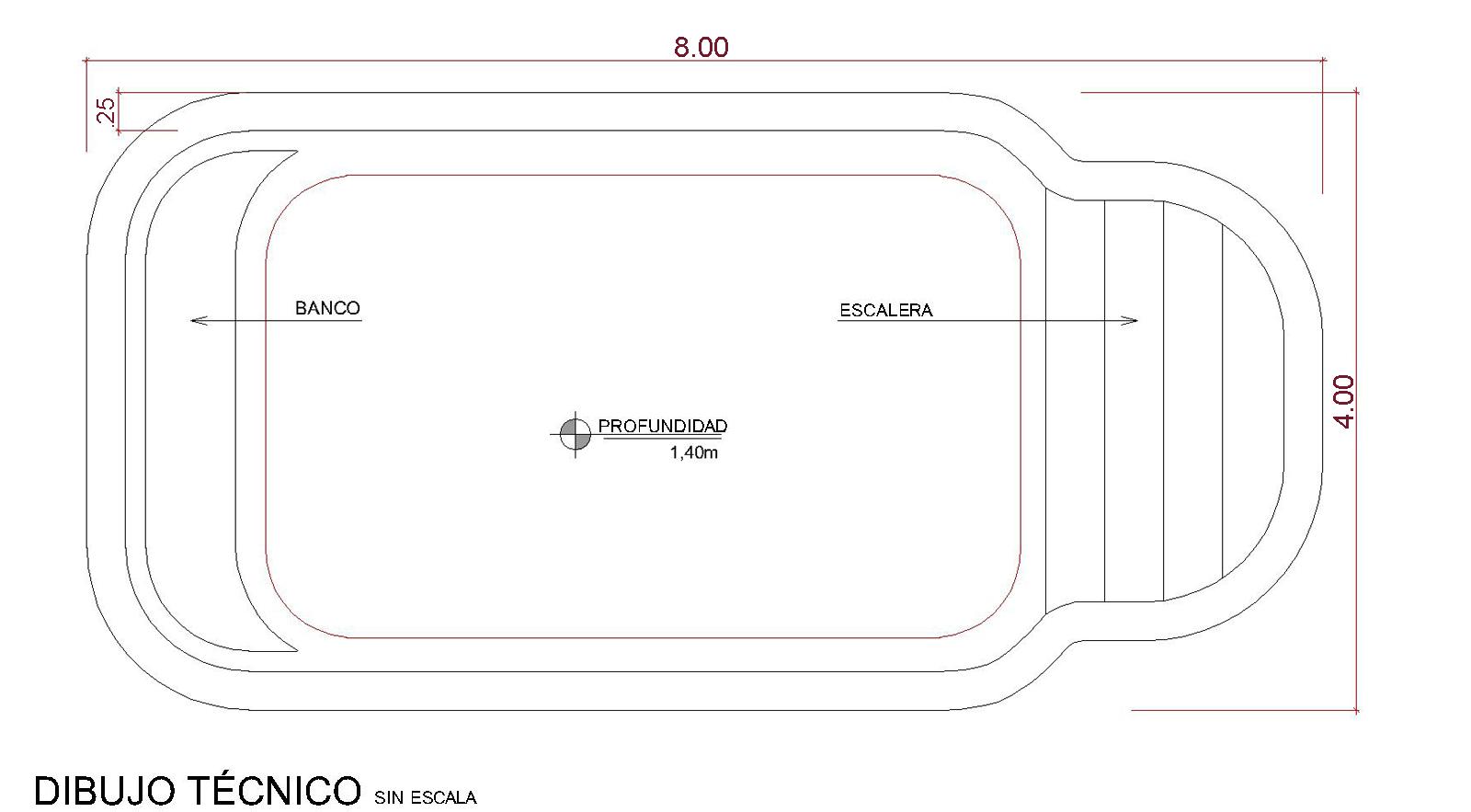 Dibujos técnicos Armação (sin escala)