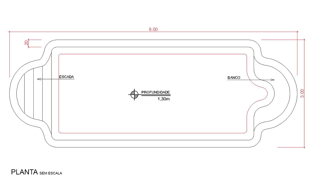 Technical drawing Arraial do Cabo (no scale)