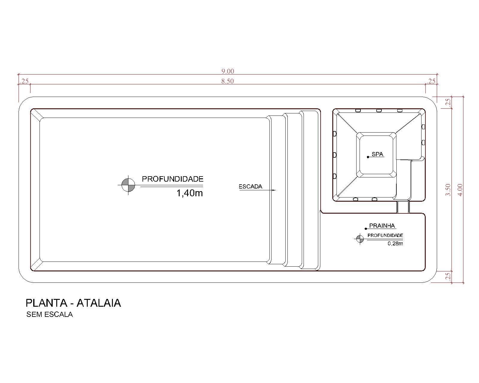Desenho técnico Atalaia (sem escala)