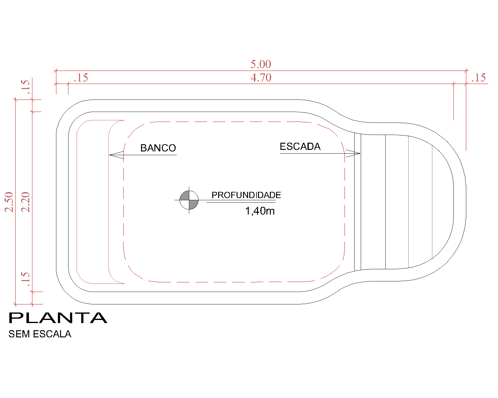 Desenho técnico Atlântida (sem escala)