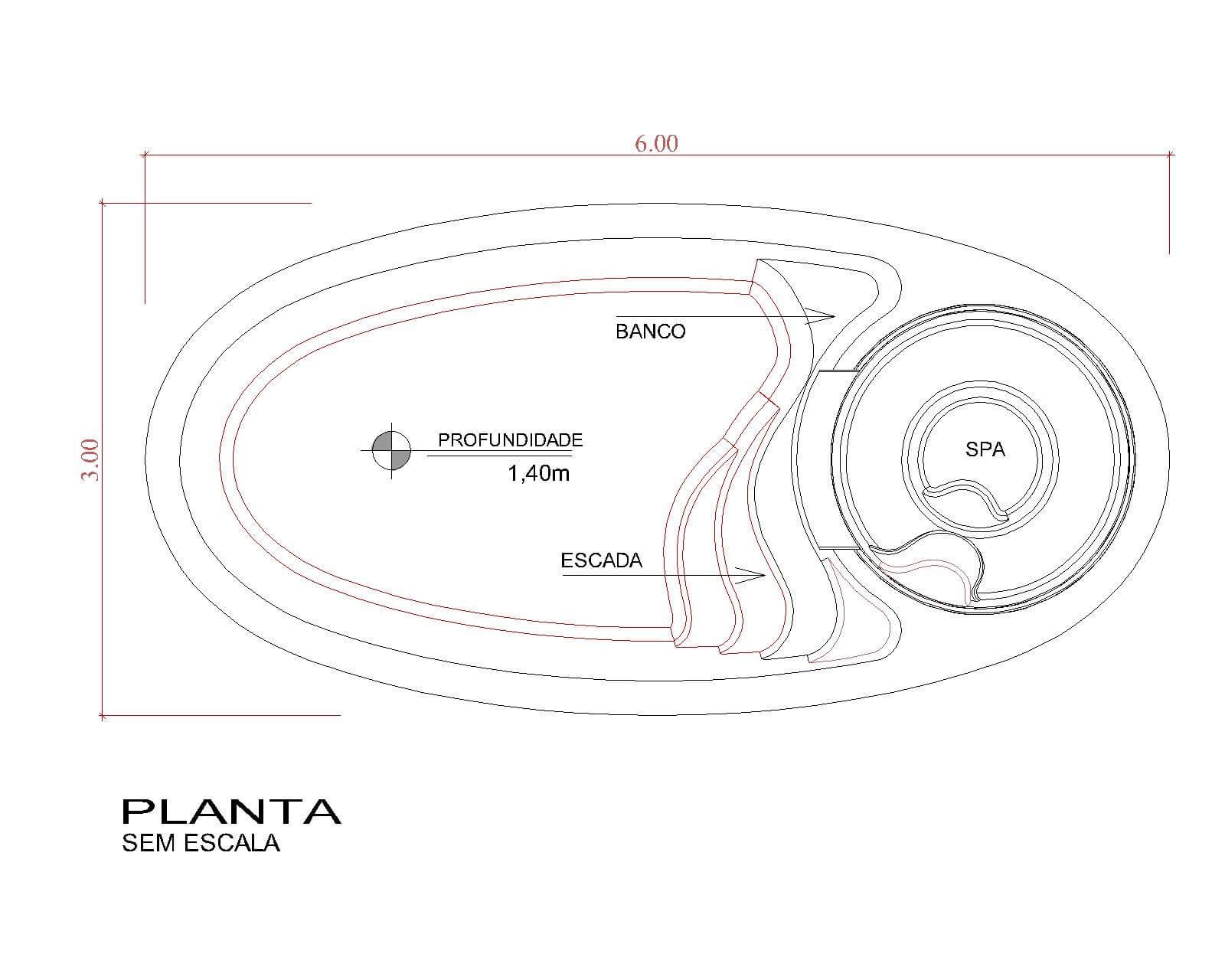 Desenho técnico Aurora (sem escala)