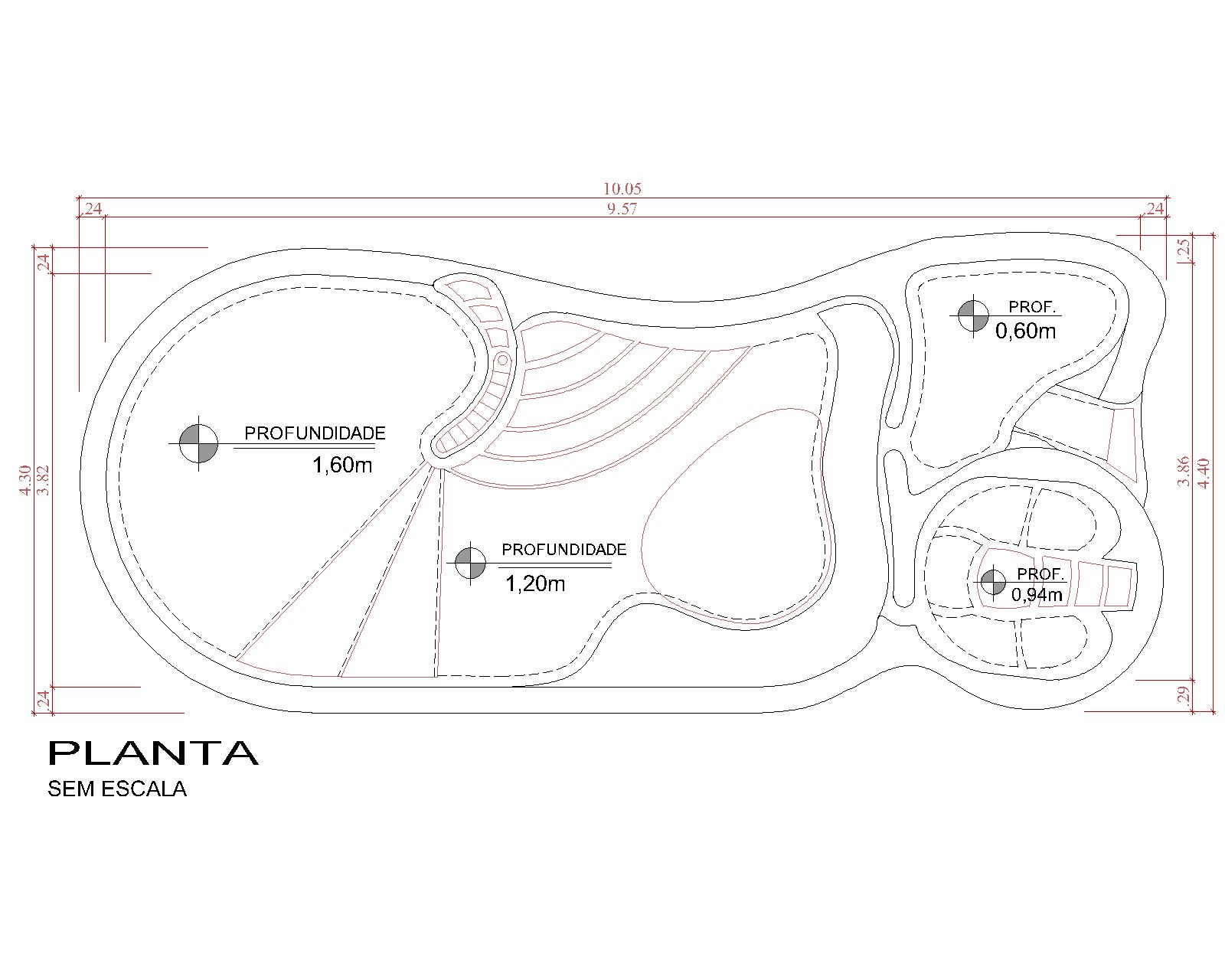 Desenho técnico Baía Blanca (sem escala)