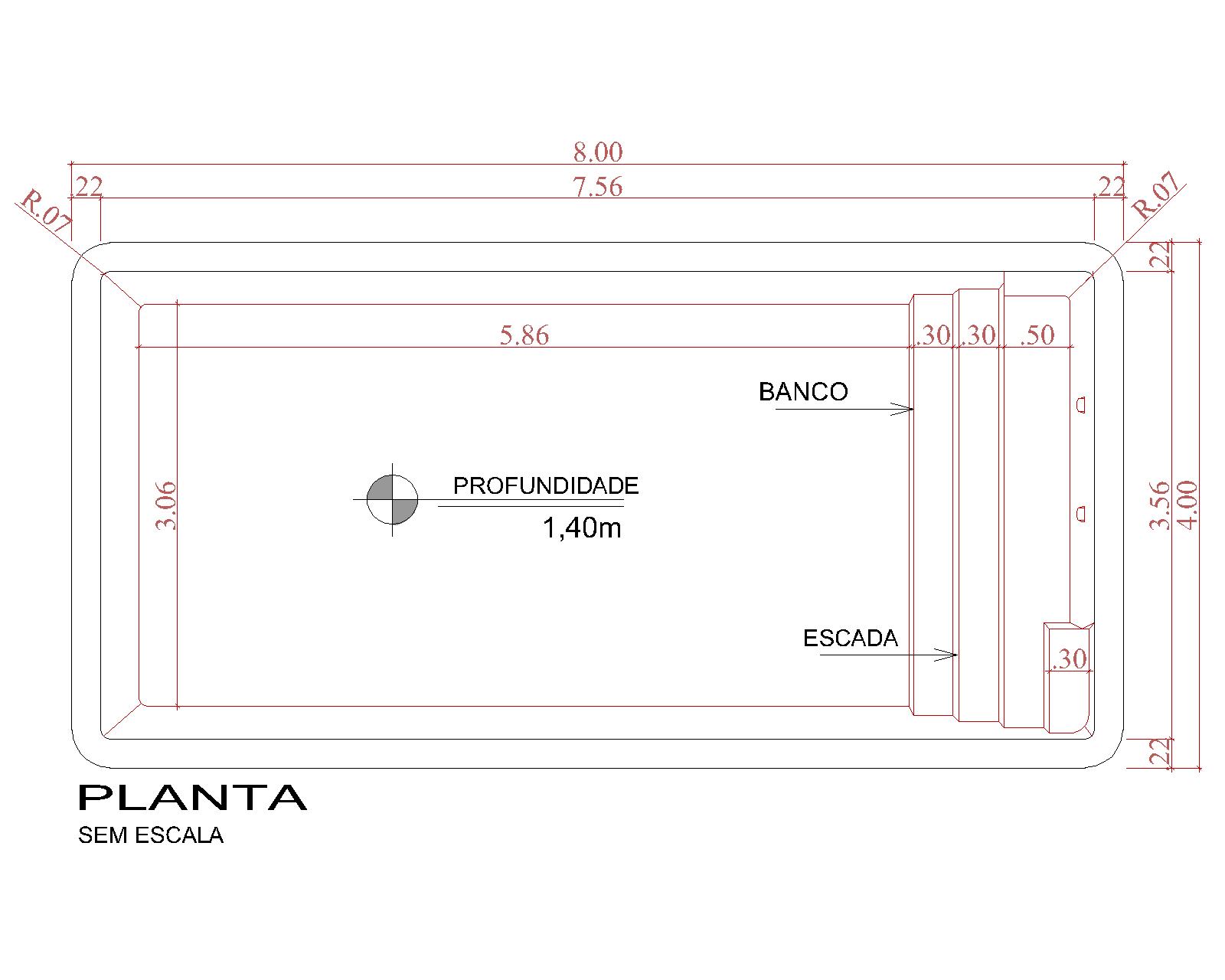 Desenho técnico Bali (sem escala)