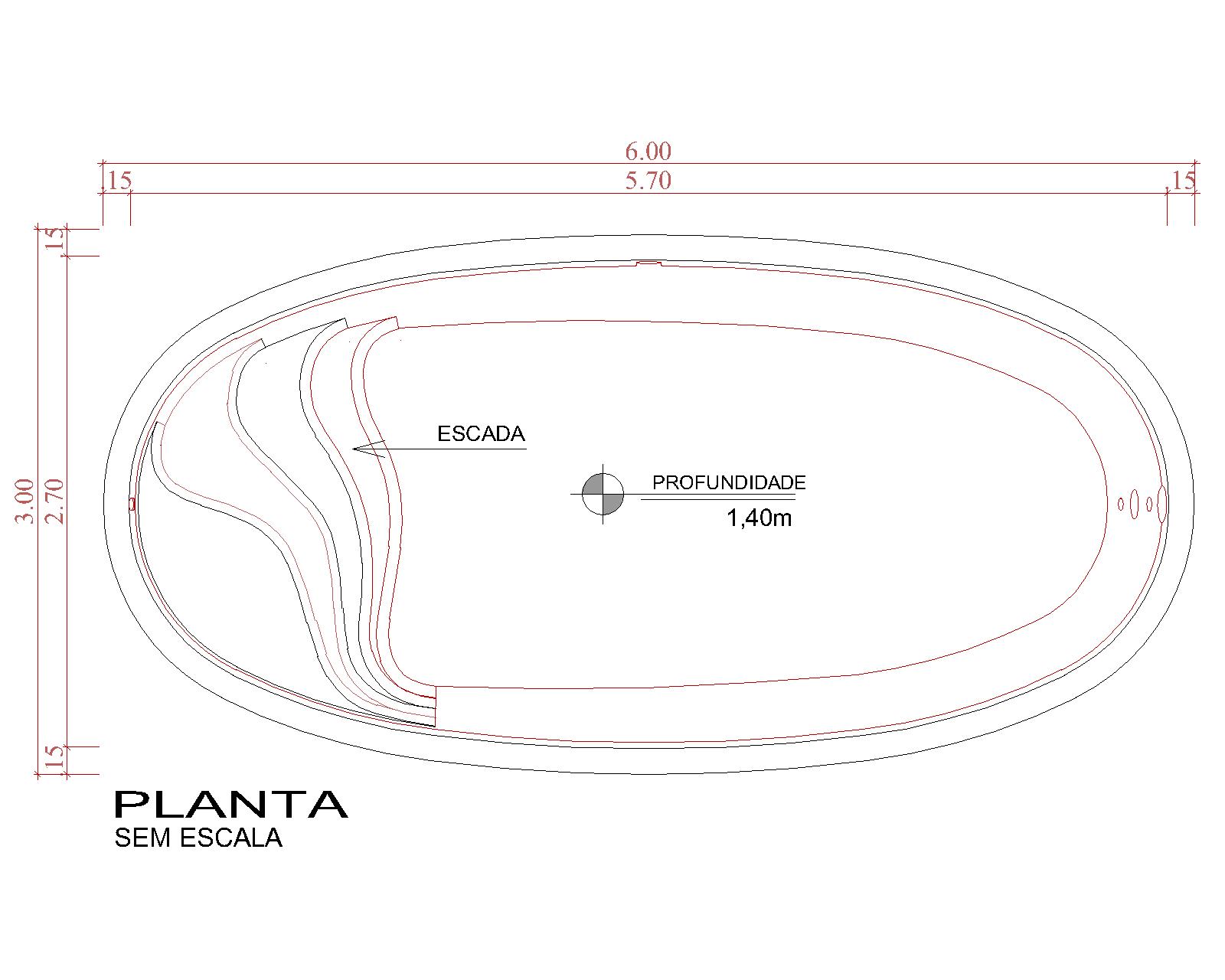 Desenho técnico Belize (sem escala)