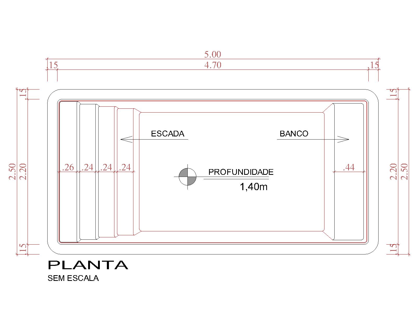 Desenho técnico Bonaire (sem escala)