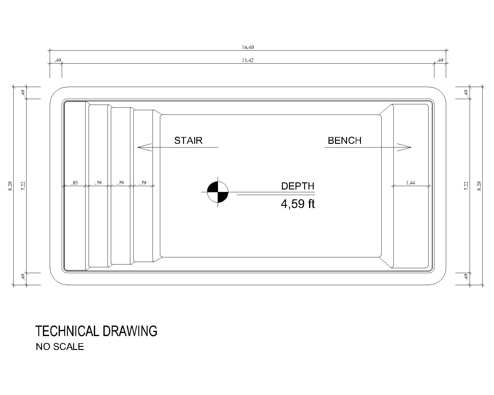 Technical drawing Bonaire (no scale)