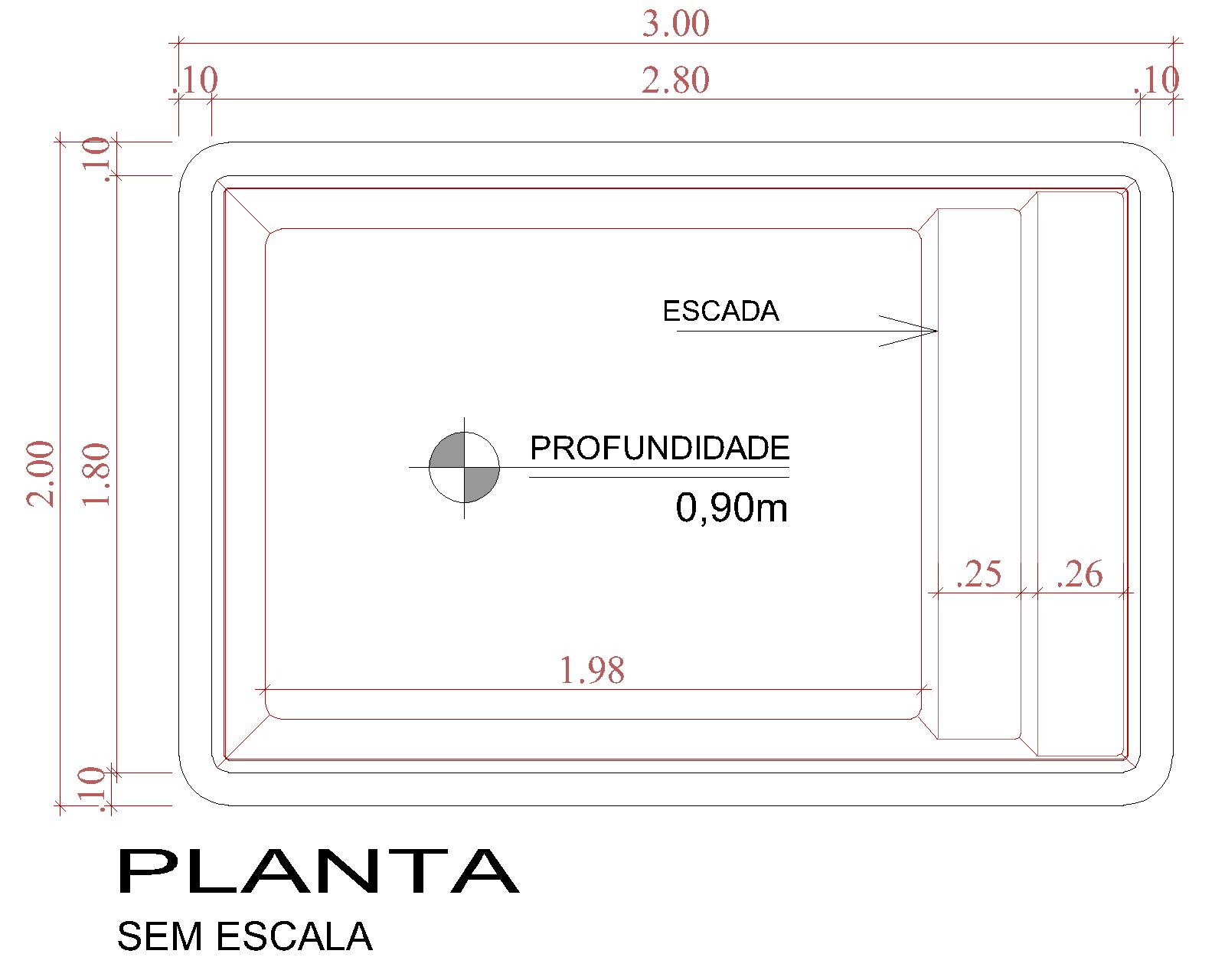 Desenho técnico Bora Bora (sem escala)