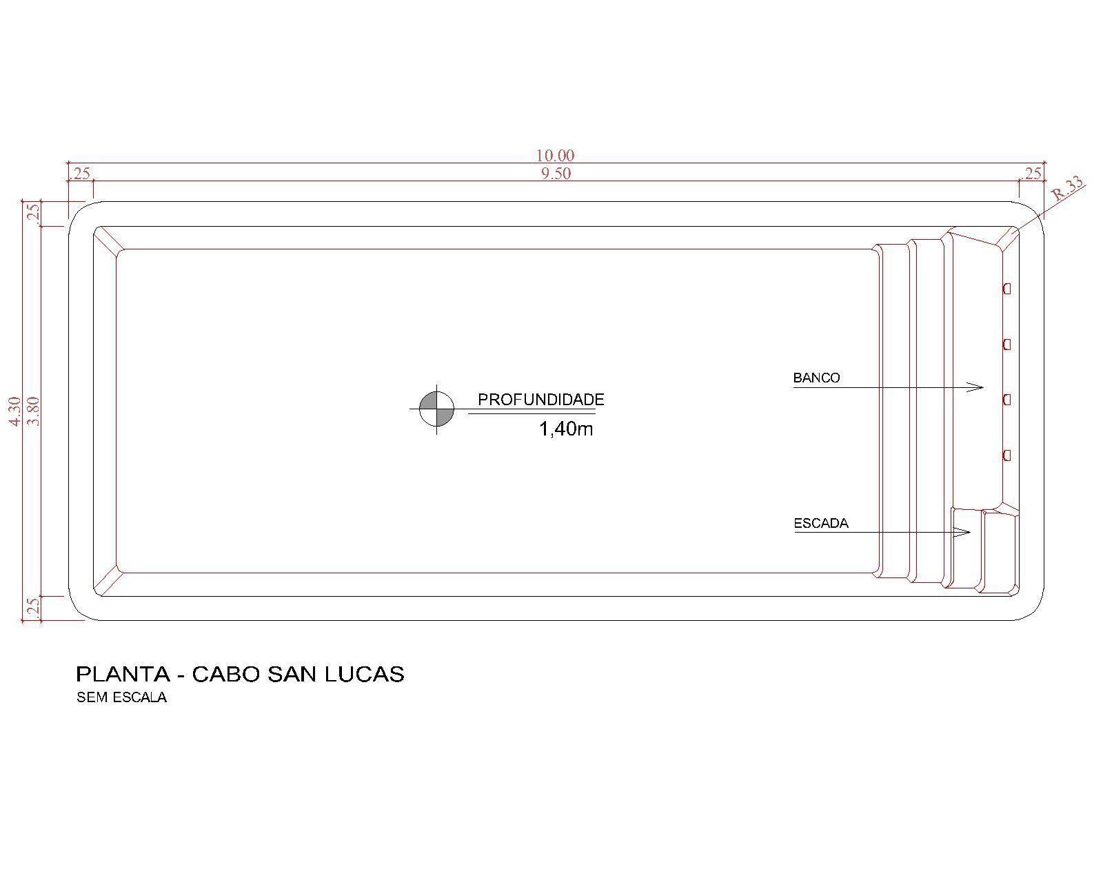 Desenho técnico Cabo San Lucas (sem escala)