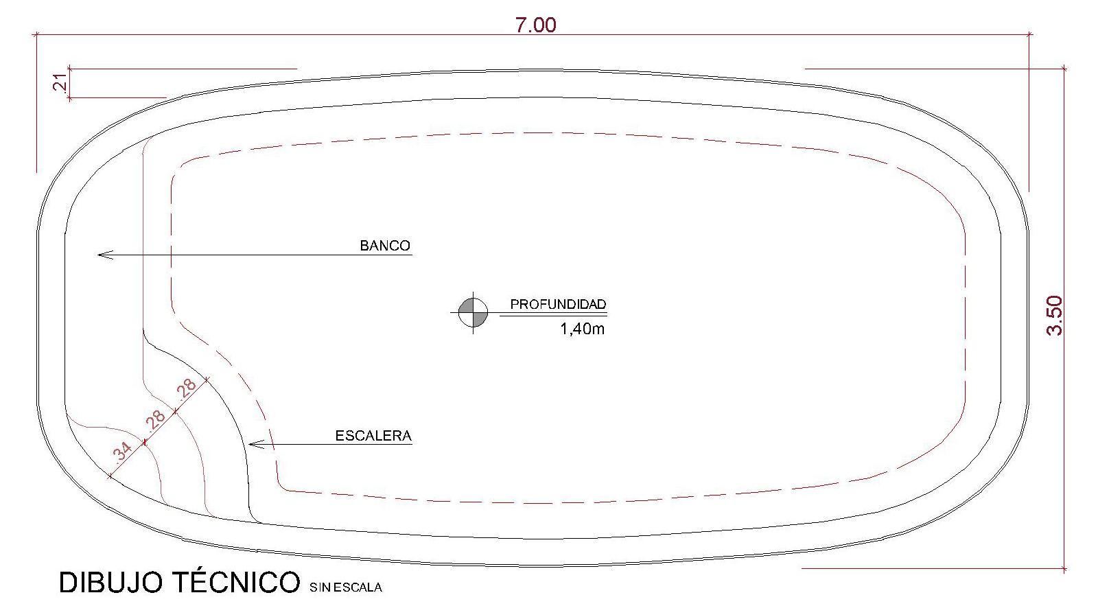 Dibujos técnicos Cálari (sin escala)