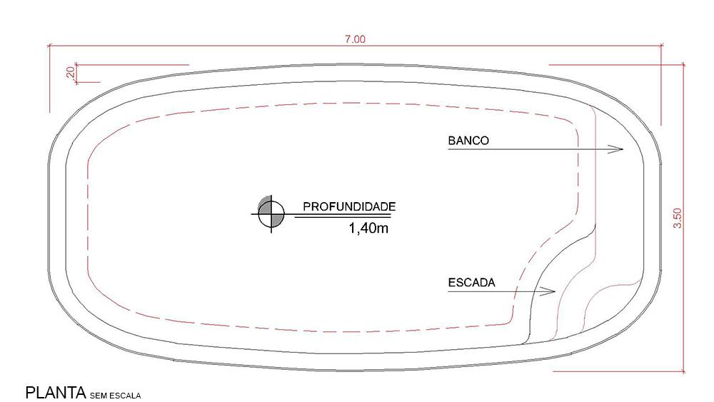 Desenho técnico Cálari (sem escala)