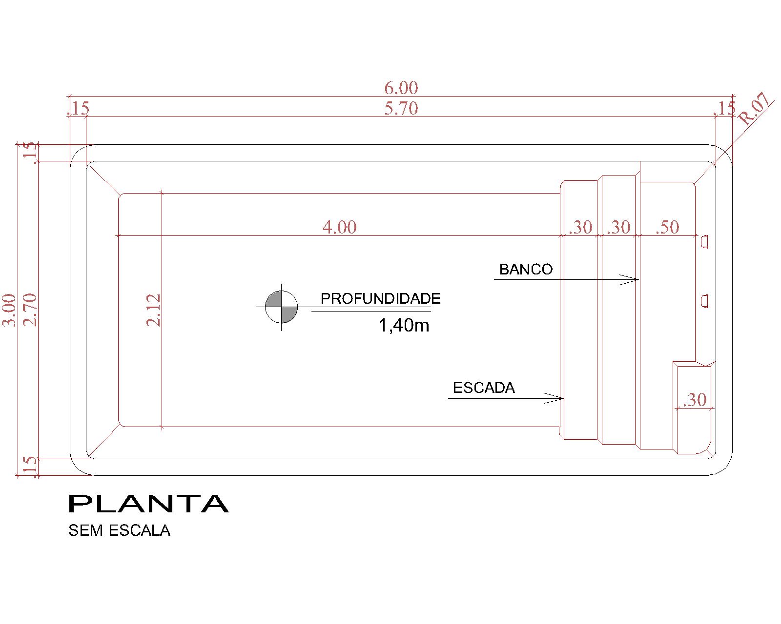Desenho técnico Cancún (sem escala)