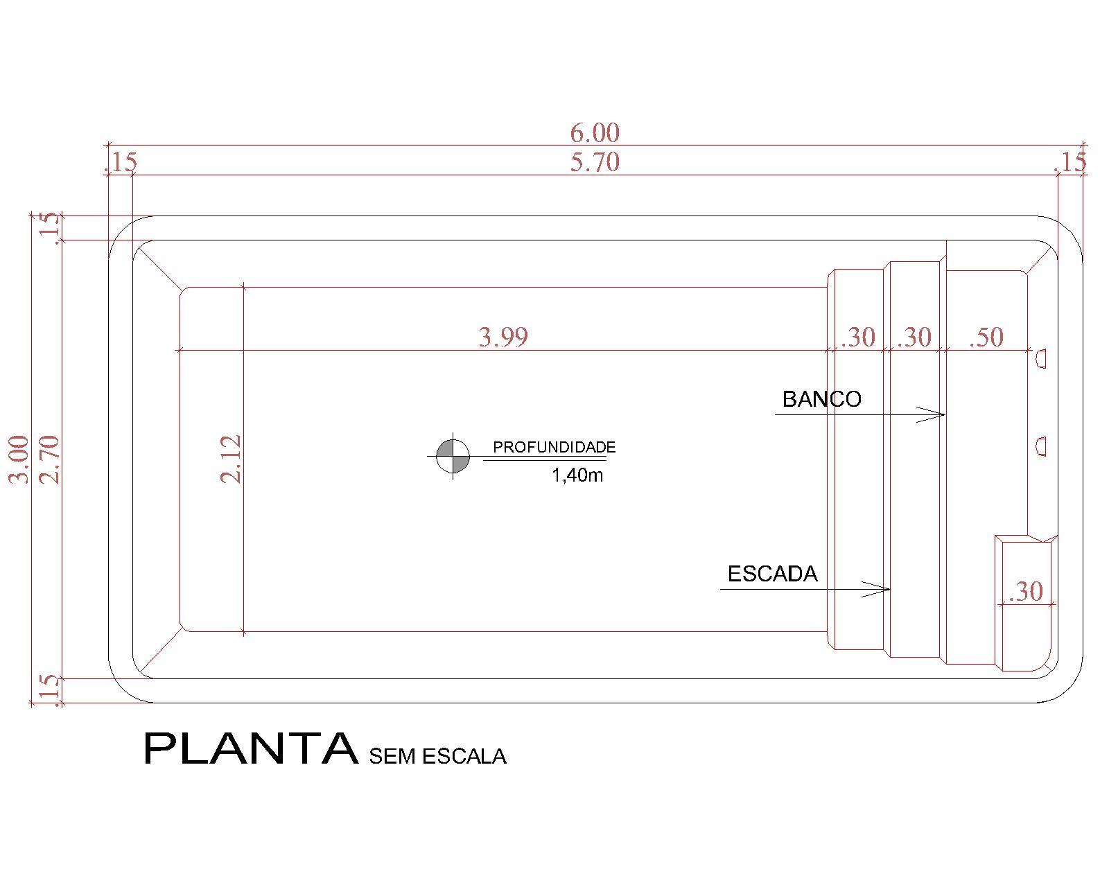Desenho técnico Cancun (sem escala)