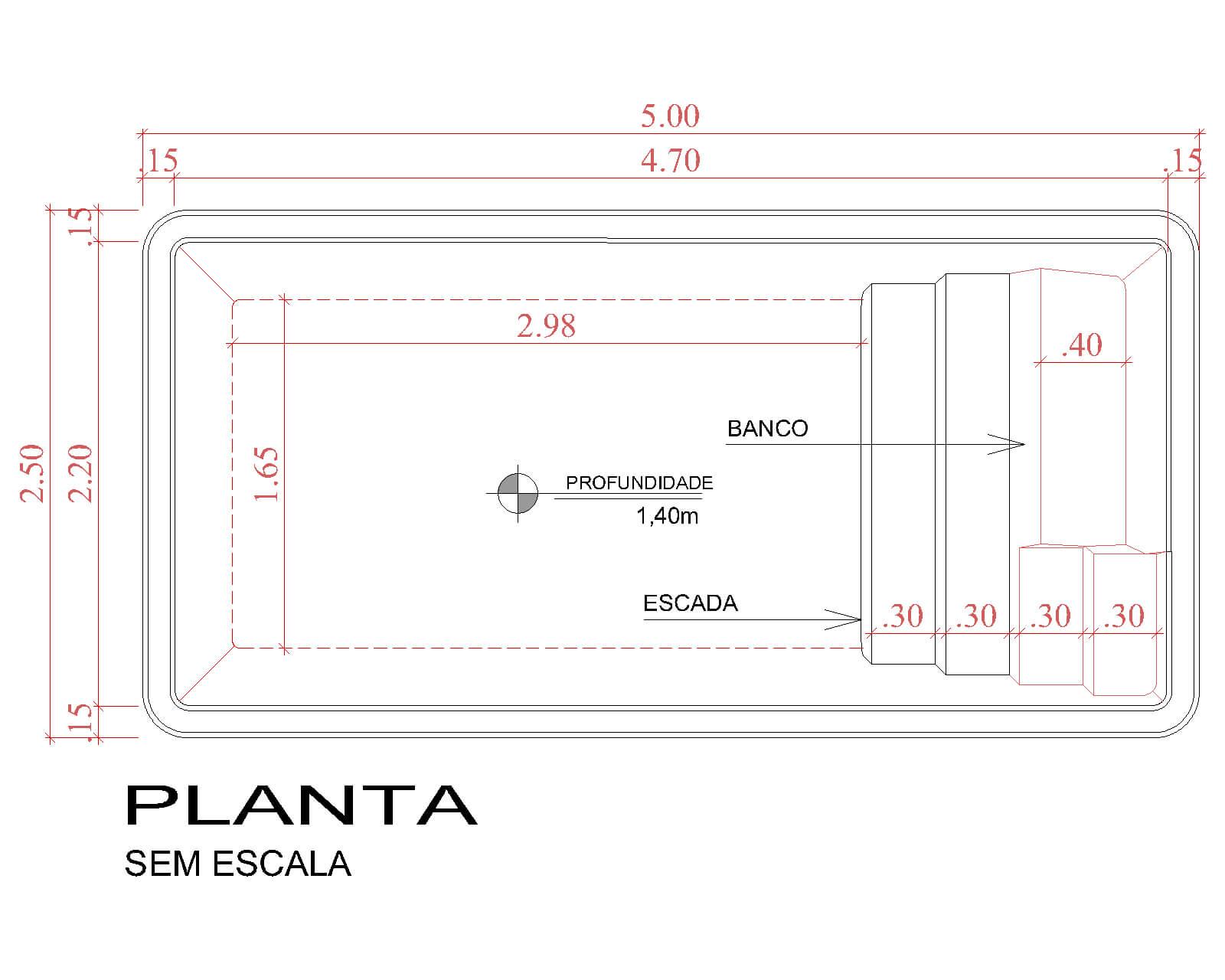 Desenho técnico Capri (sem escala)