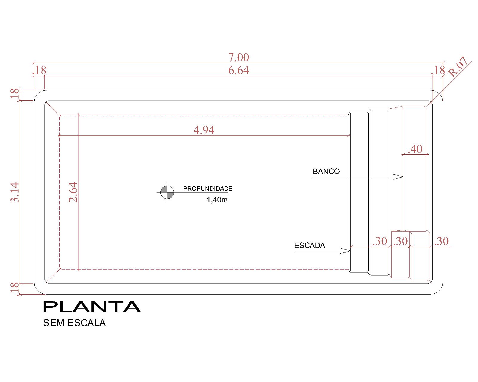 Desenho técnico Cozumel (sem escala)