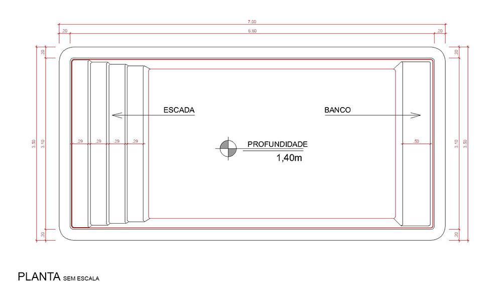 Desenho técnico Dominica (sem escala)