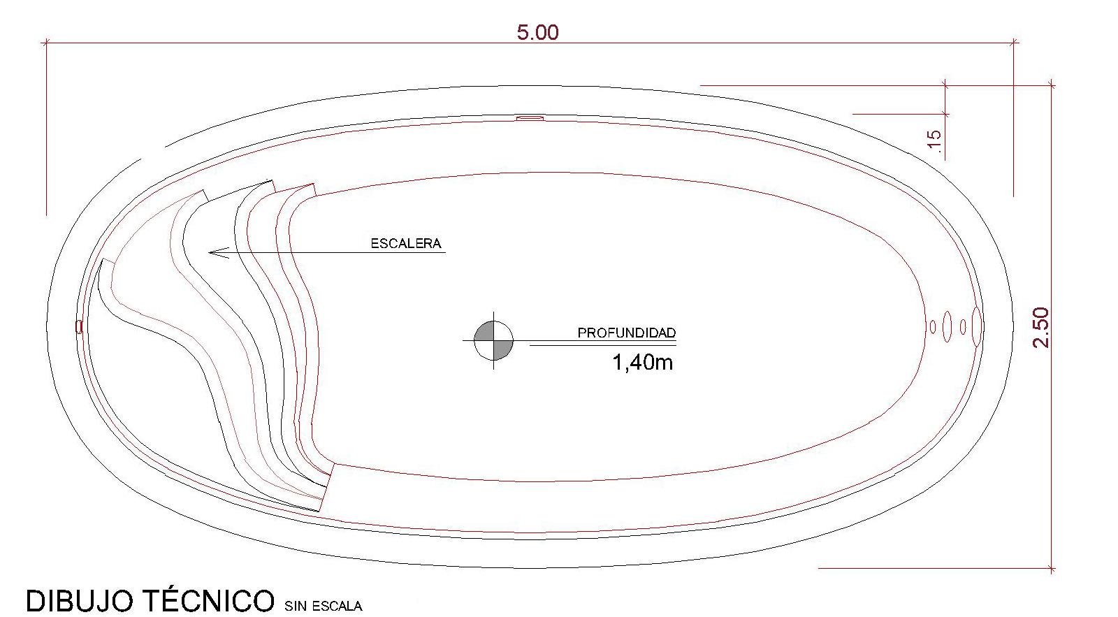 Dibujos técnicos Fiji (sin escala)