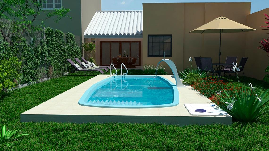 piscina Hanalei blanca bege azul area lazer