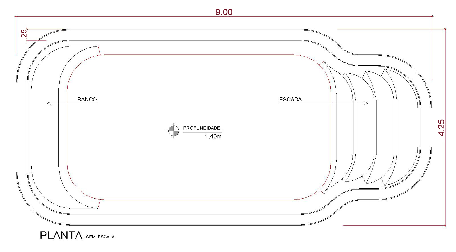 Desenho técnico Itacaré (sem escala)