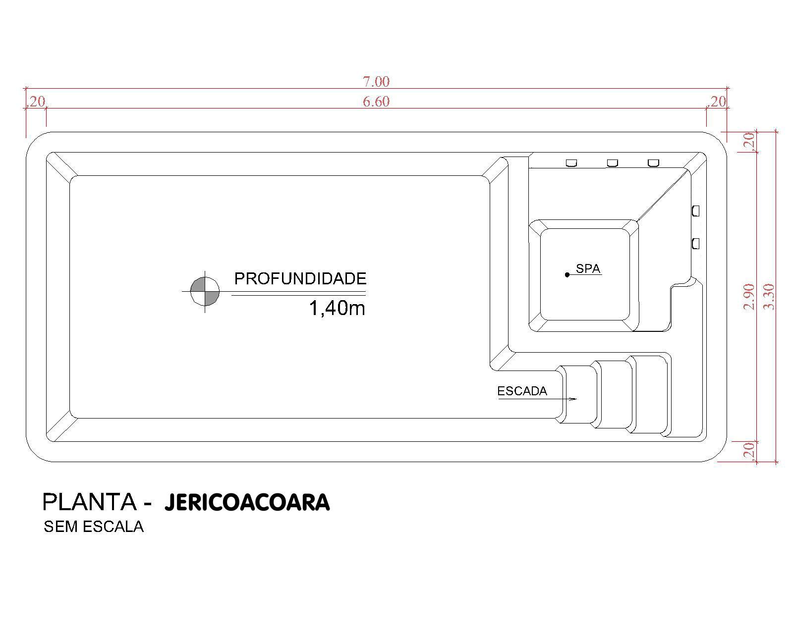 Desenho técnico Jericoacoara (sem escala)