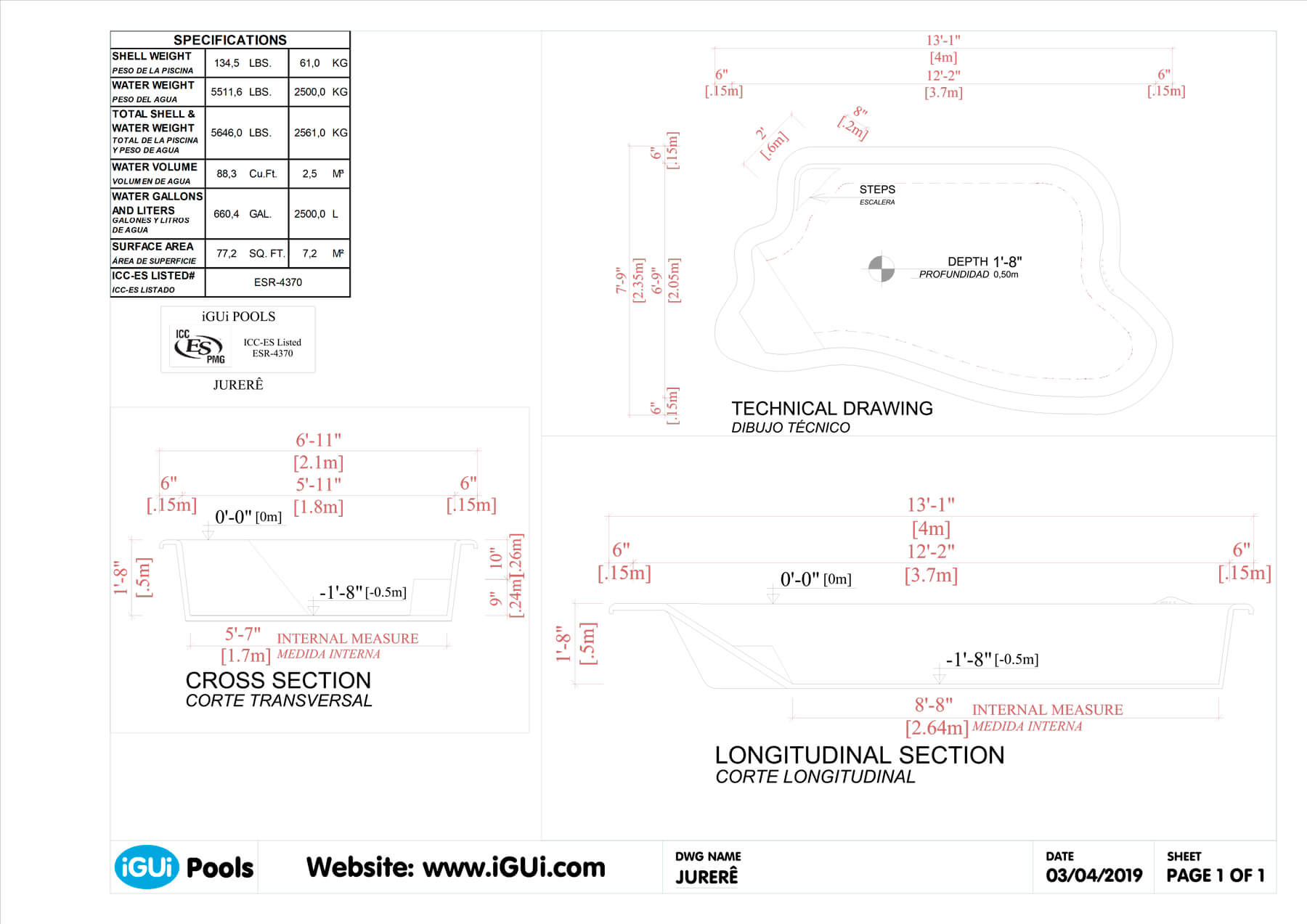 Technical drawing Jurerê (no scale)