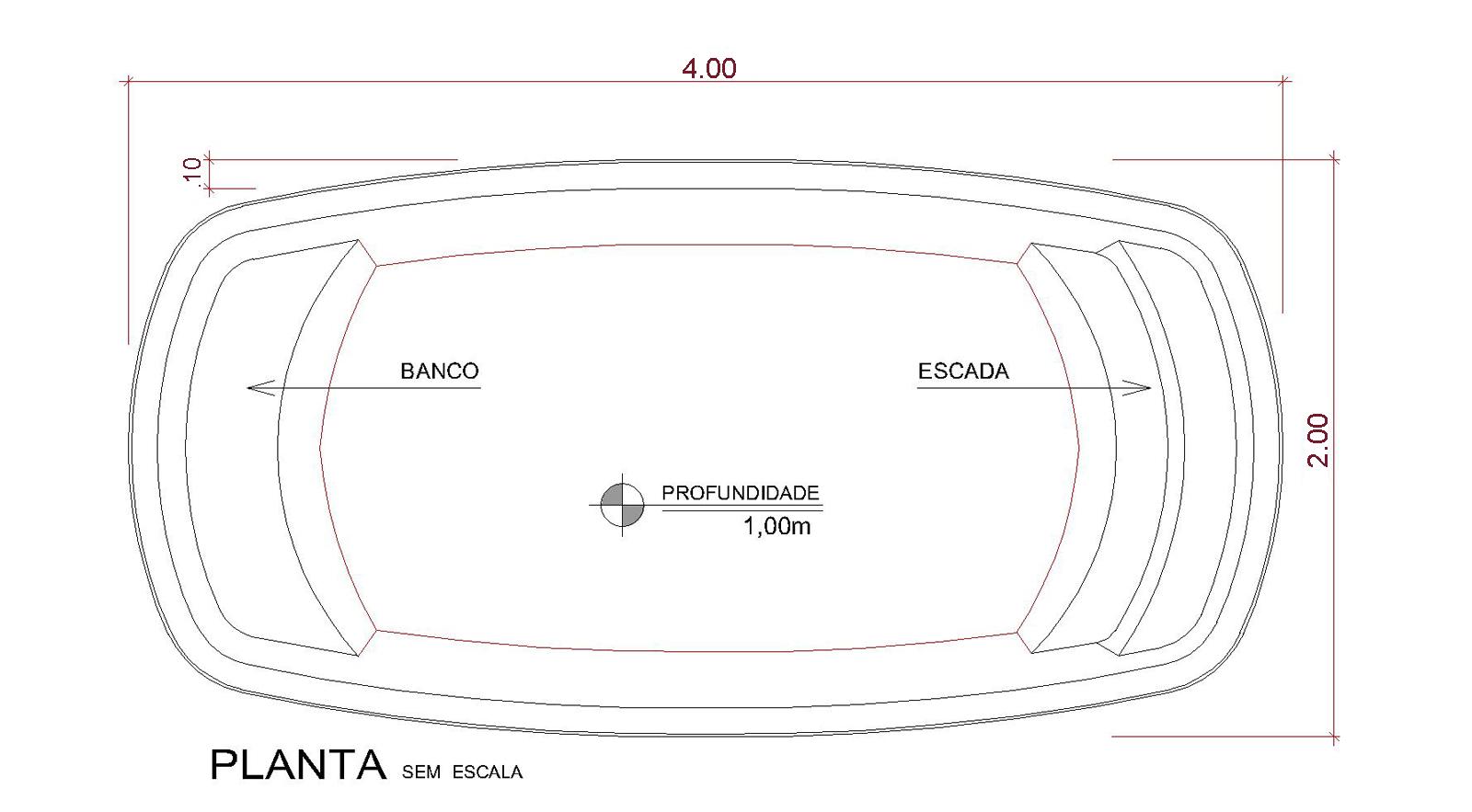 Desenho técnico Kaanapali (sem escala)