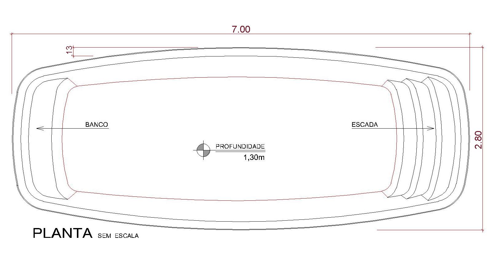 Desenho técnico Kapalua (sem escala)