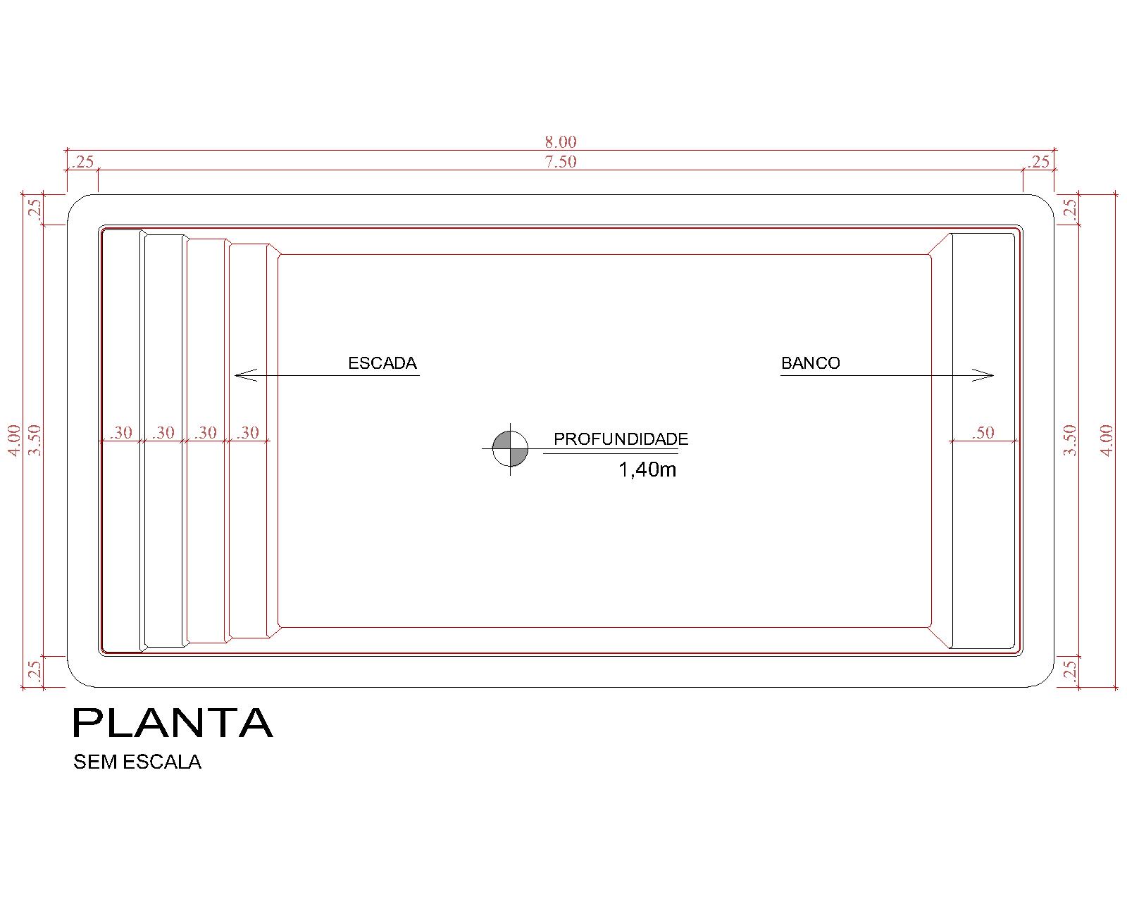 Desenho técnico Martinica (sem escala)
