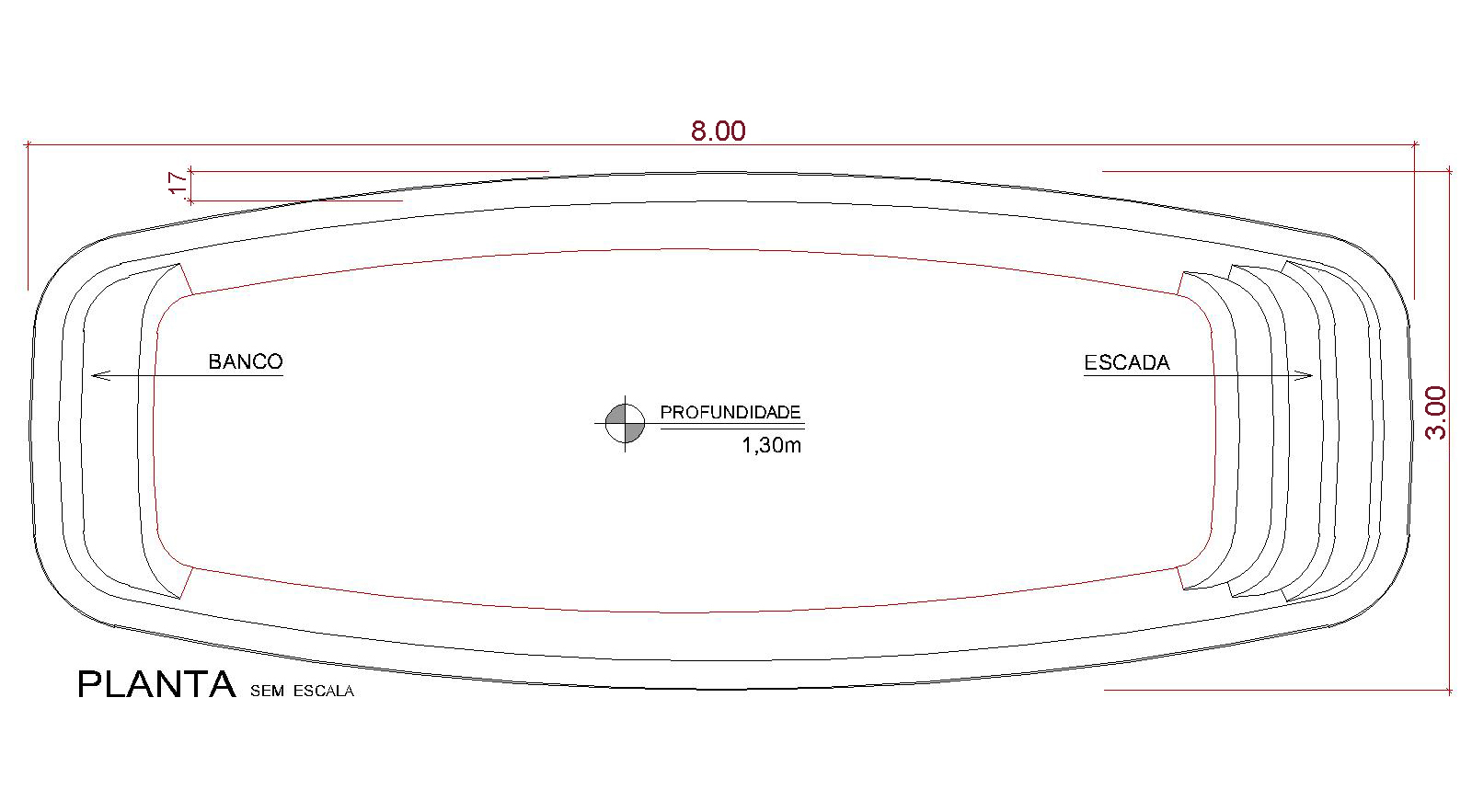 Desenho técnico Oneloa (sem escala)