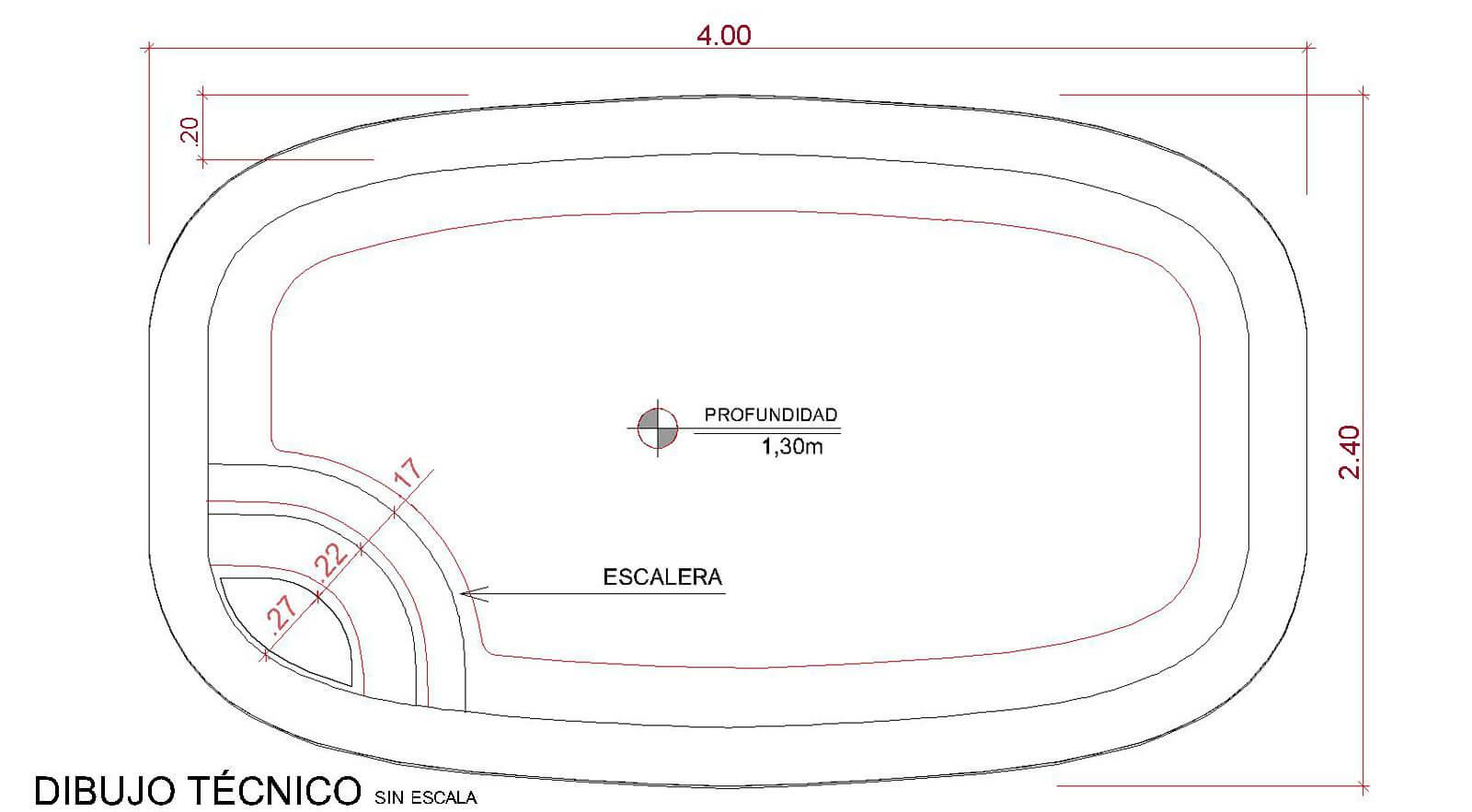 Dibujos técnicos Pescara (sin escala)