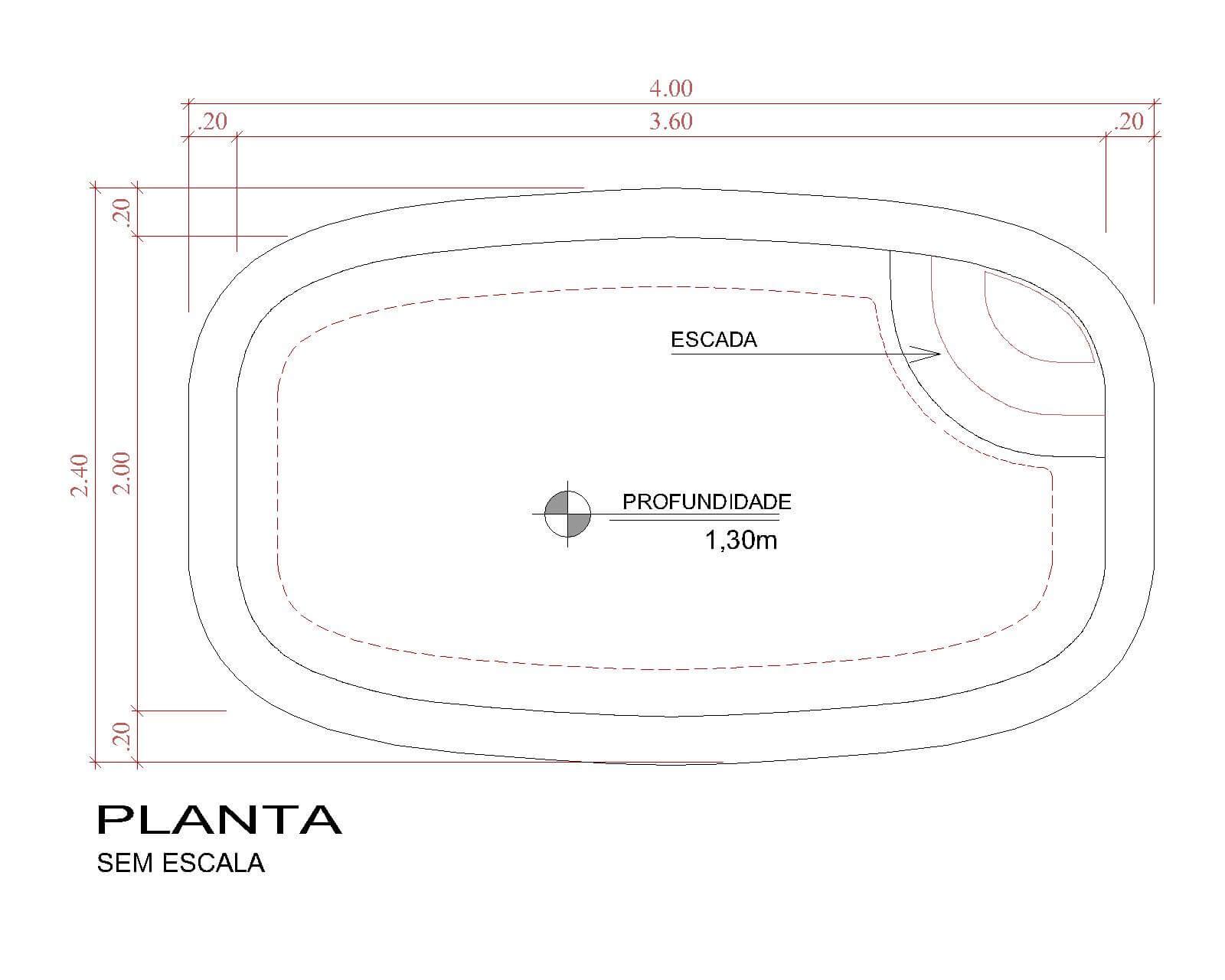 Desenho técnico Pescara (sem escala)