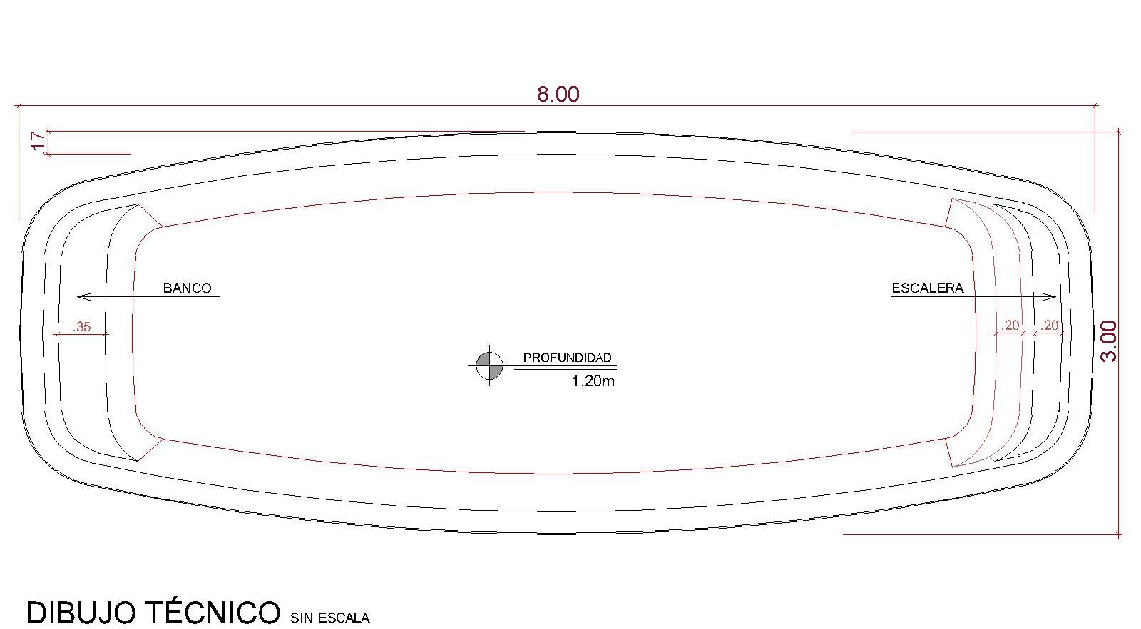Dibujos técnicos Pupukea (sin escala)