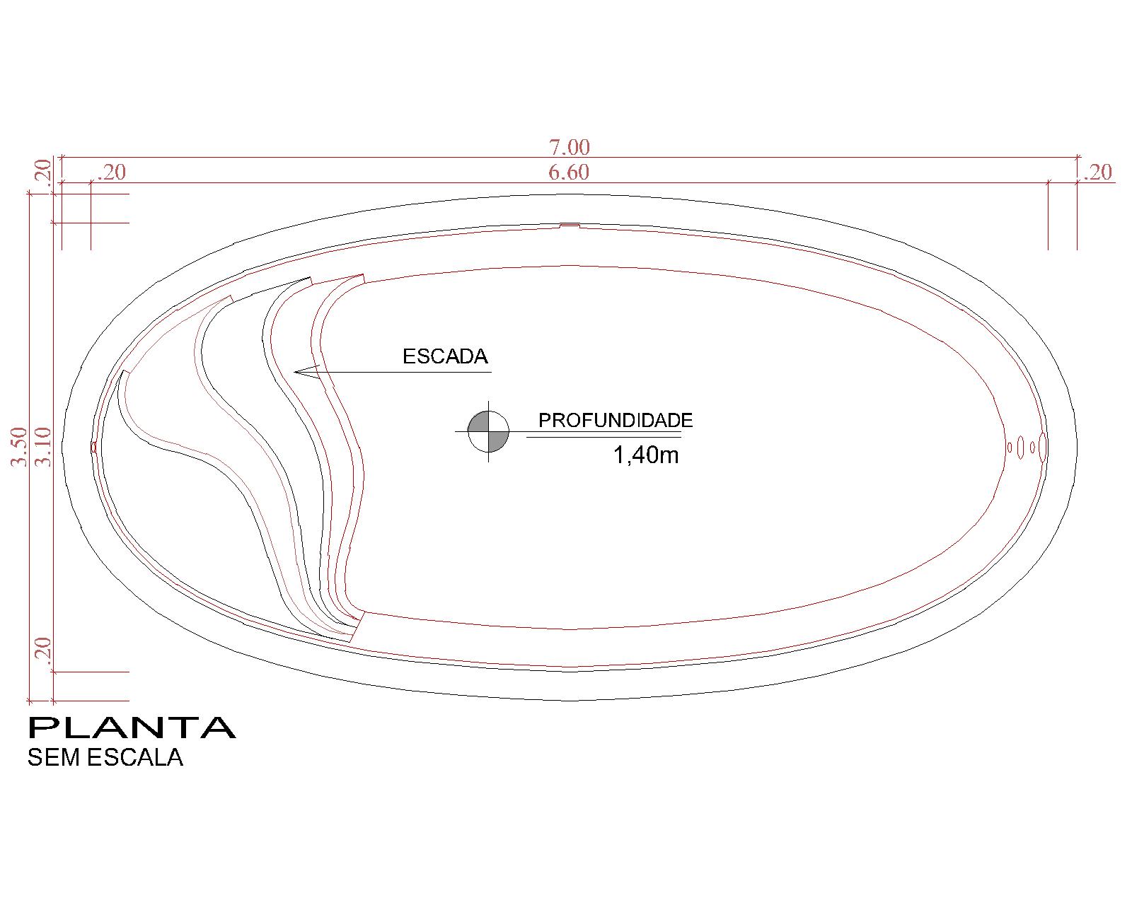 Desenho técnico Rocas (sem escala)