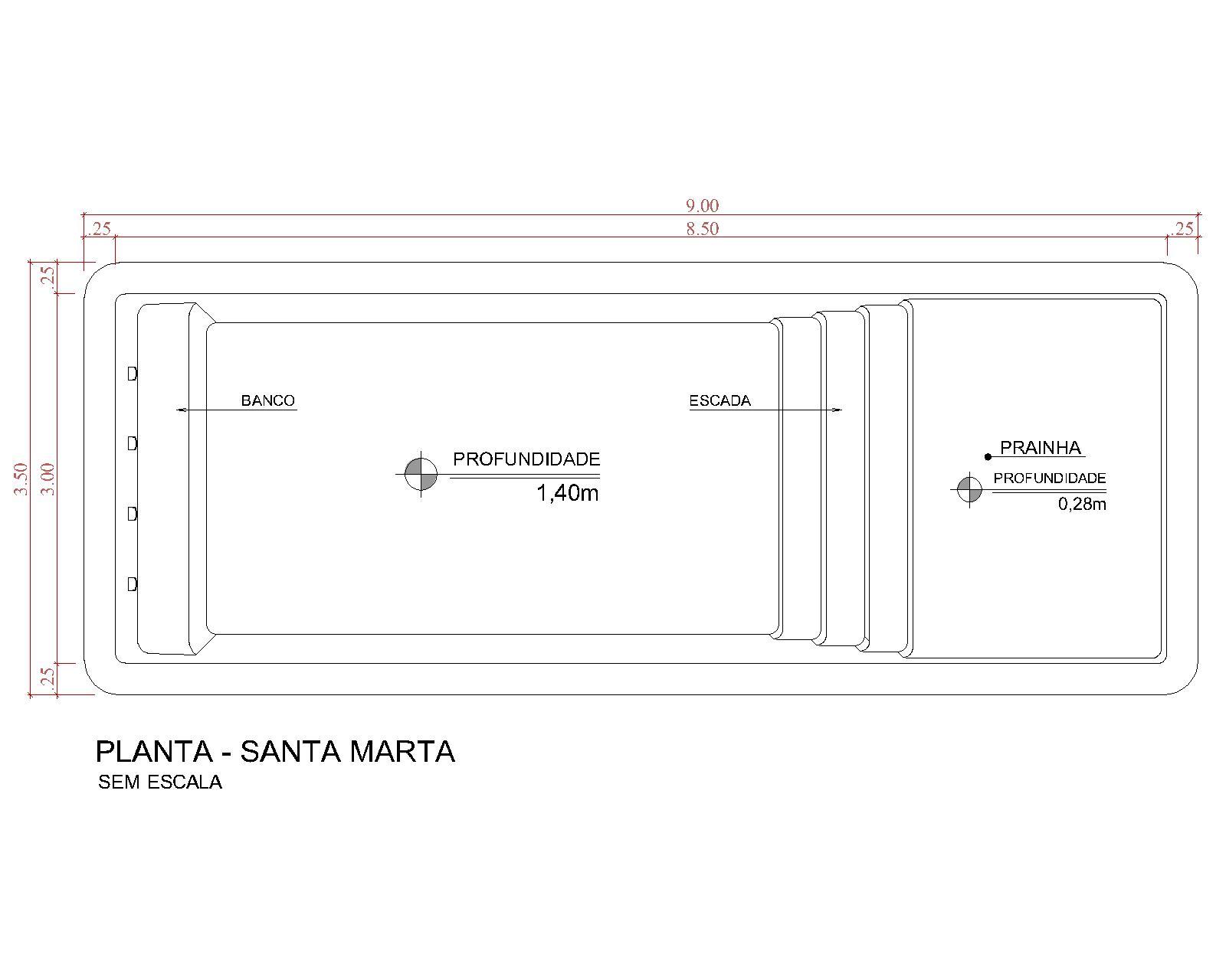 Desenho técnico Santa Marta (sem escala)
