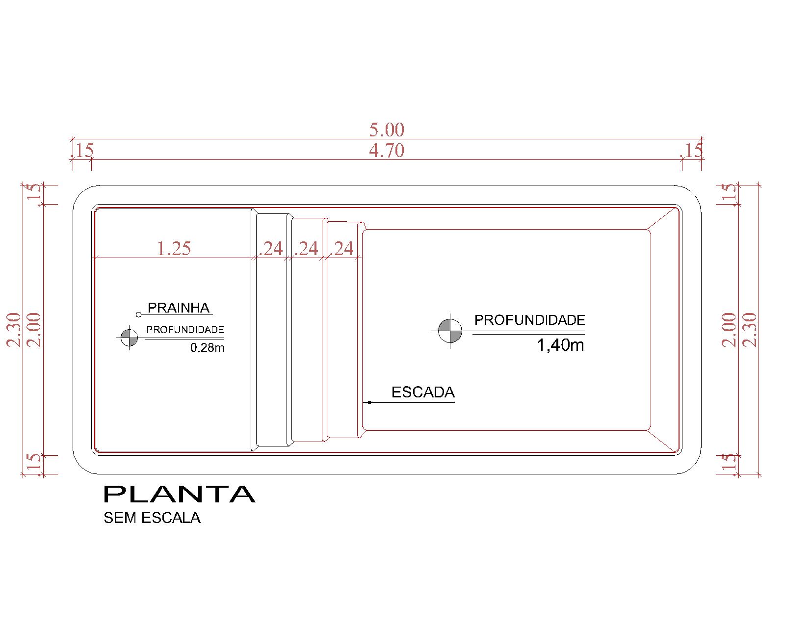 Desenho técnico Tortuga (sem escala)