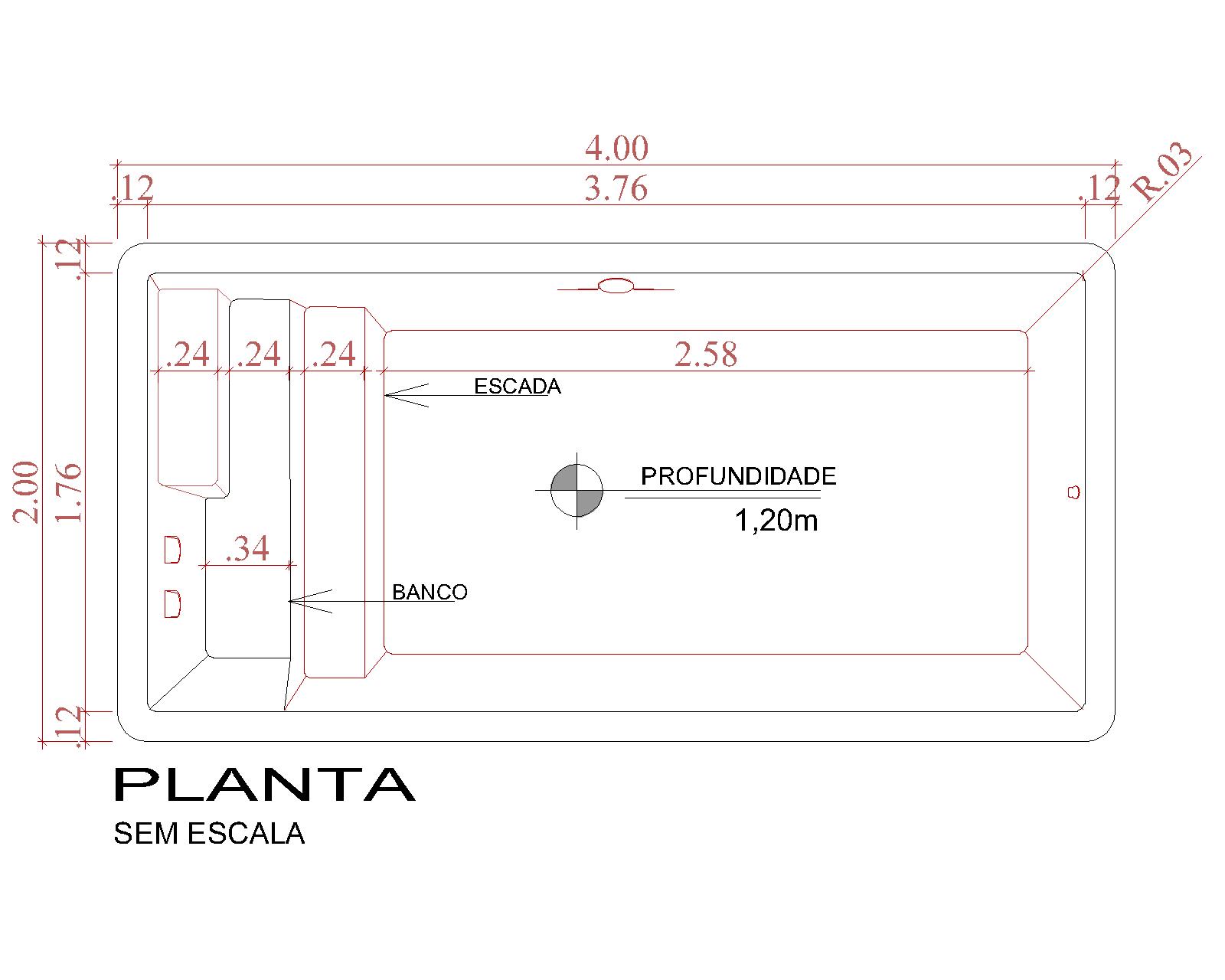 Desenho técnico Tulum (sem escala)