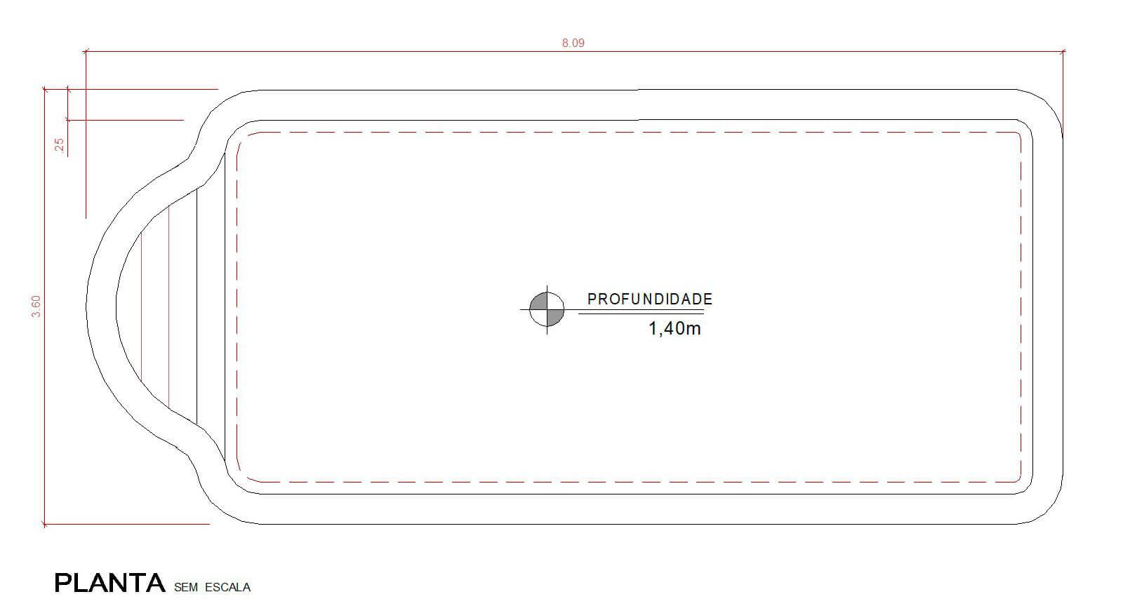 Desenho técnico Vila Moura (sem escala)