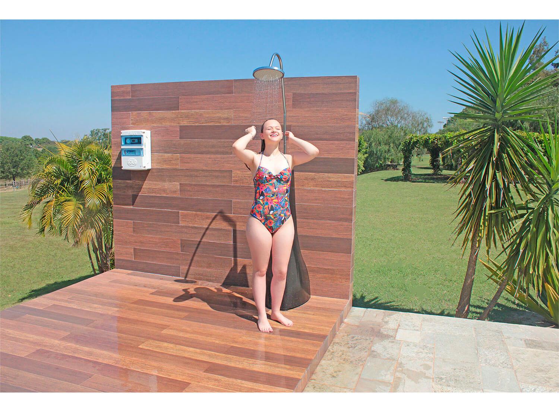 Ducha Solar relaxante agradável quente água piscina energia solar