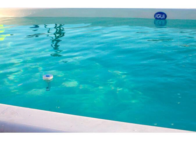 Termômetro Kelvin controla temperatura água piscina belize branca