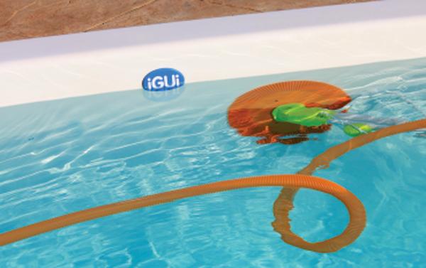 aspirador de piscina automatico papaterra armação branca sobe parede