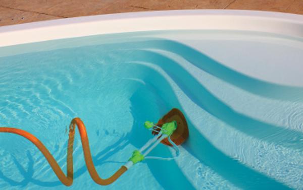 aspirador de piscina automatico papaterra armação branca sobe degraus