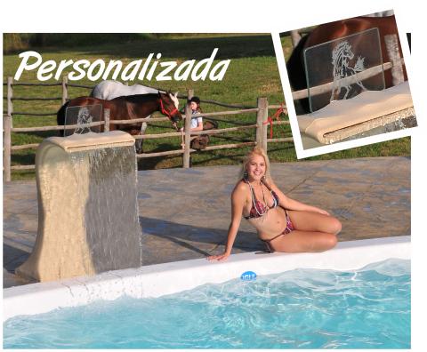 Cascada Personalizada diversion y ocio piscina hijos