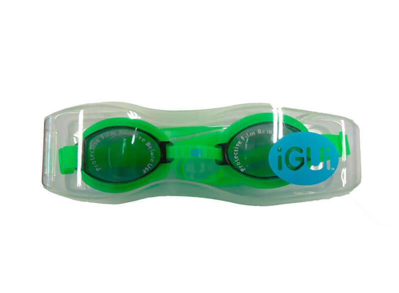 óculos para natação verde na caixa