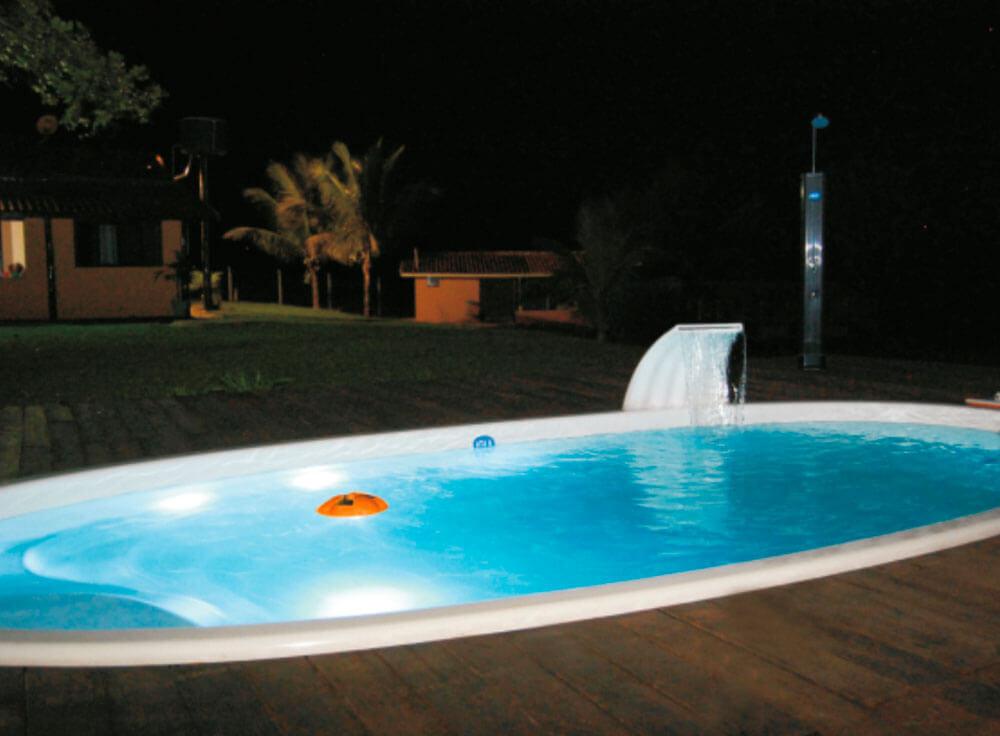 iGUiLux Float iGUi iluminação piscina led água fiji branca cascata onda